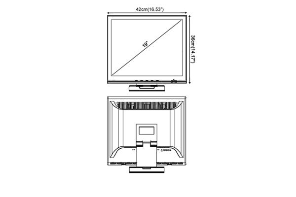 Размер диагонали монитора для видеонаблюдения