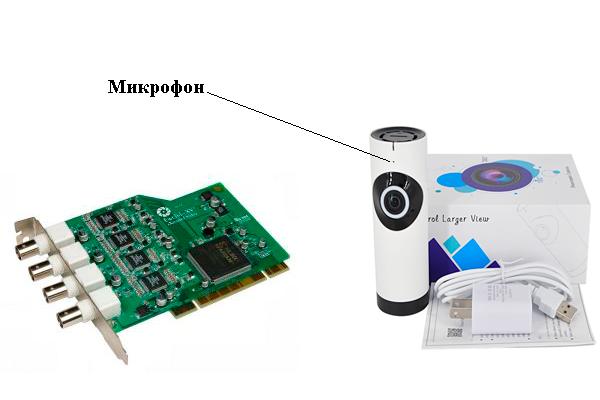Обработка звука поступающего на встроенный микрофон камеры видеонаблюдения платой