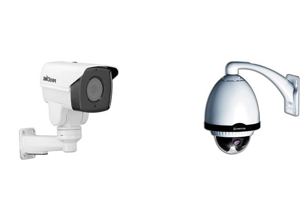 Поворотные уличная IP-камера видеонаблюдения Proline IP-WC2415PTZ4 и купольная TSi-SDW211Z22 zoom
