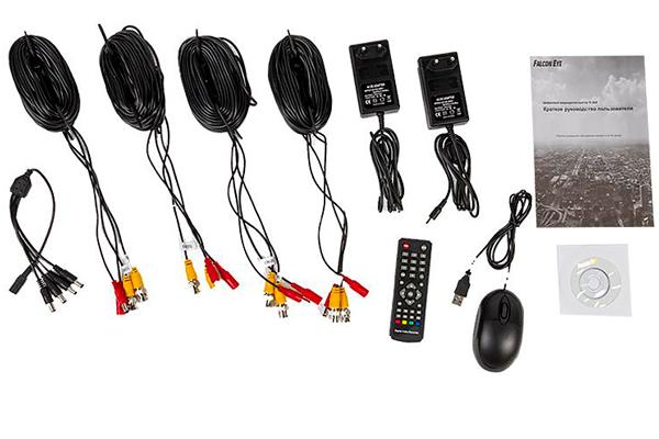 Комплектующие элементы системы видеонаблюдения Falcon Eye