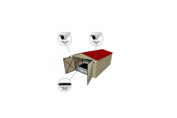 """Комплект видеонаблюдения AHD для гаража на 2 камеры """"Наблюдатель"""""""