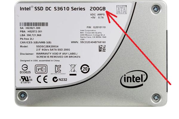 Объем SSD диска видеосервера