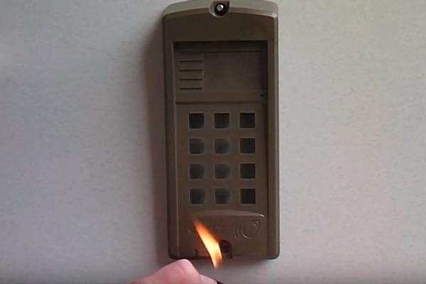 Огнестойкость домофона Визит