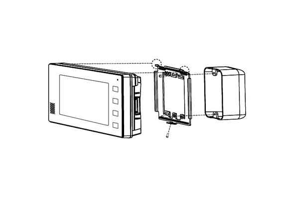 Схема настенного монтажа домофона Kocom
