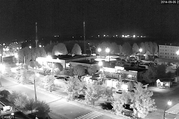 Картинка изображения камеры видеонаблюдения с ИК-подсветкой