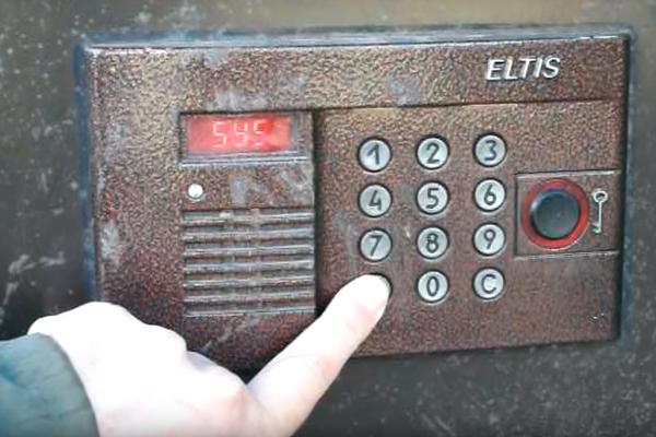 """Вход в режим программирования для открытия домофона """"Eltis"""" без ключа"""