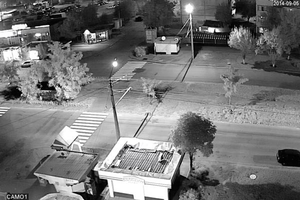 Изображение камеры видеонаблюдения с ИК-подсветкой