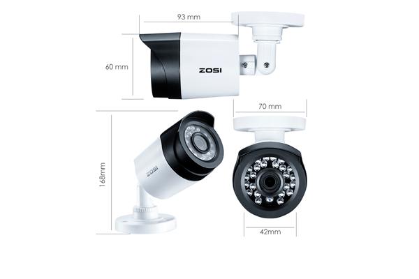 Размер видеокамеры Zosi