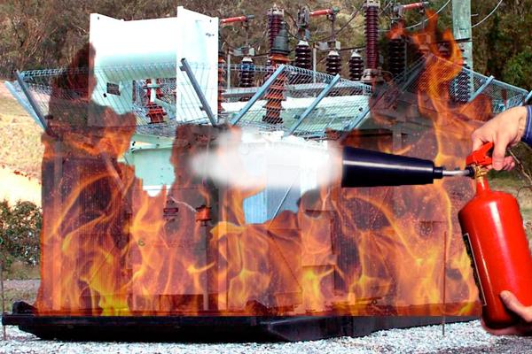 Тушение установки огнетушителем что под напряжением