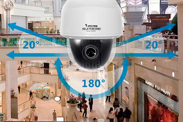 Угол обзора PTZ камеры видеонаблюдения
