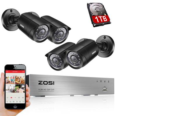 Комплект видеонаблюдения ZOSI 8KN/8KM-106B4-00