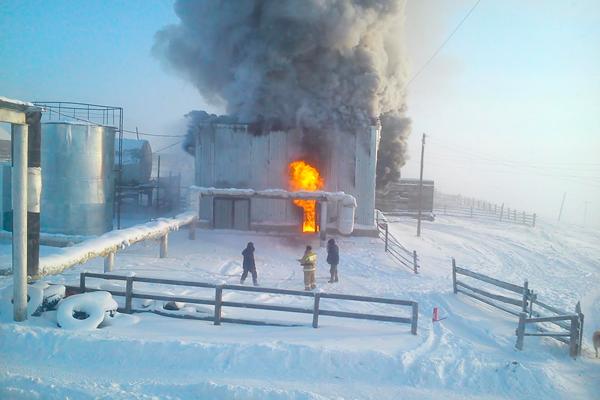 Пожар в газовой котельной