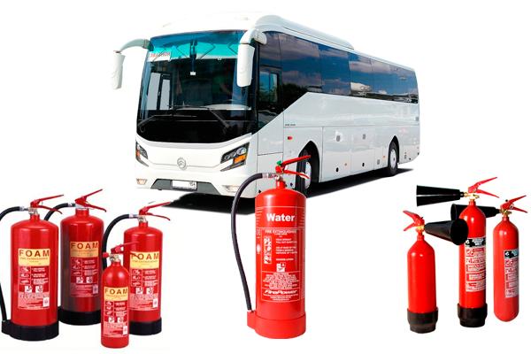 Типы огнетушителей для пожарной безопасности в автобусе