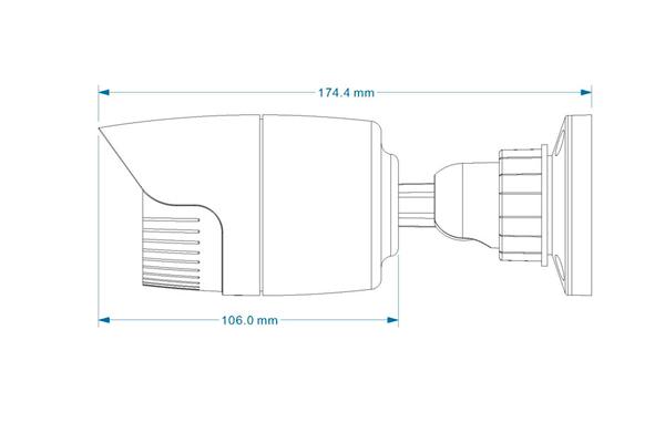 Размеры камеры видеонаблюдения LTV-ICDM1-E6235L-F3.6