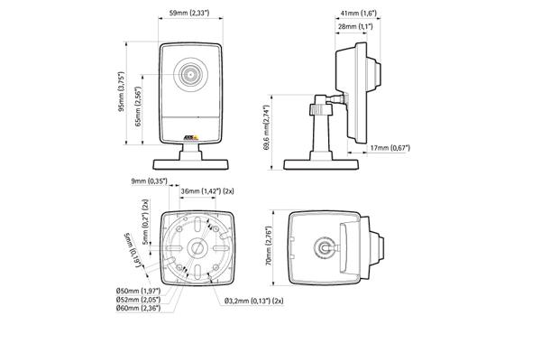Схема устройства камеры видеонаблюдения Axis M1004-W