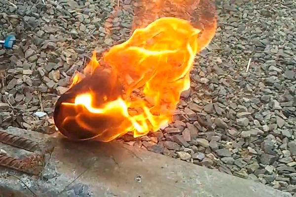 Процесс горения бензина