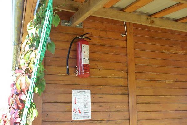 Огнетушитель в деревянном доме