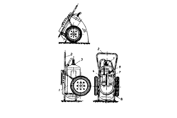 Схема устройства переносного огнетушителя