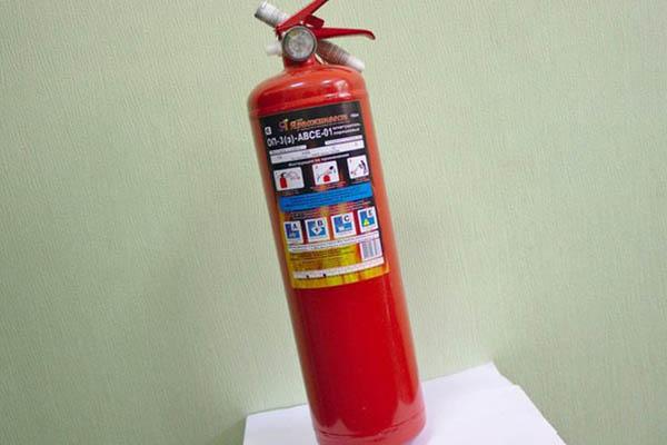 Порошковый огнетушитель для квартиры