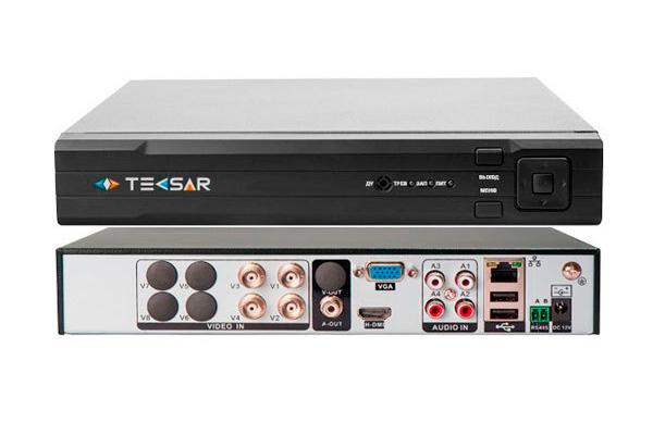 Регистратор для видеонаблюдения AHD Tecsar HDVR B4CH4A-QHD