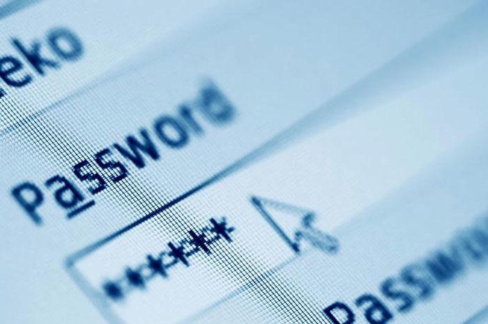 Поле для введения пароля учетной записи