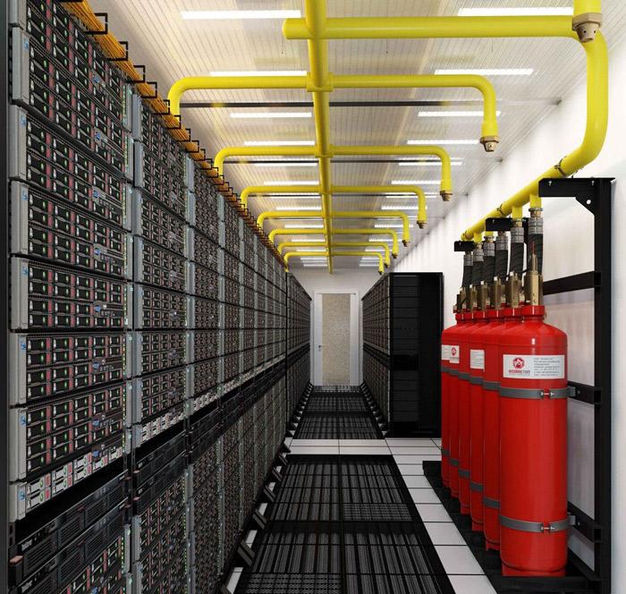 Система защиты серверной комнаты в случае пожара
