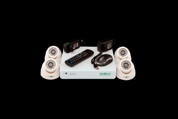 Внутренний комплект видеонаблюдения Green Vision GV-K-G01/04 720Р