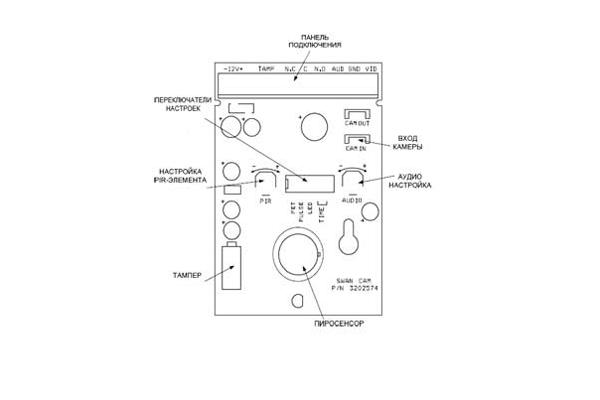 Схема устройства датчика движения