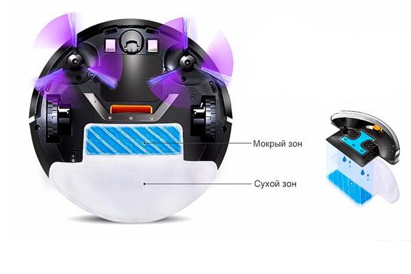 Устройство робота-пылесоса Fmart E-R550W (S)