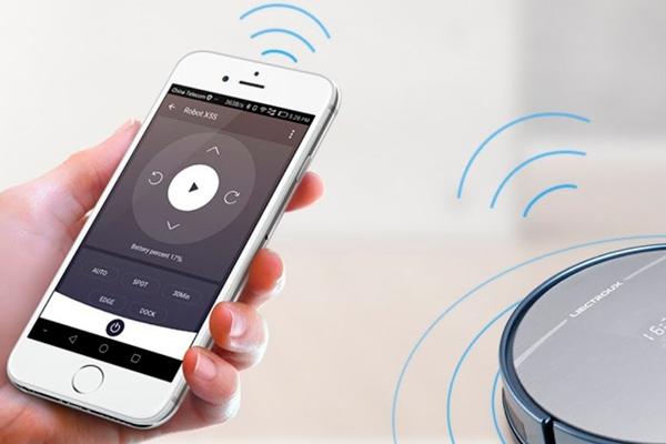 Управление роботизированным пылесосом Liectroux x5s с помощью смартфона