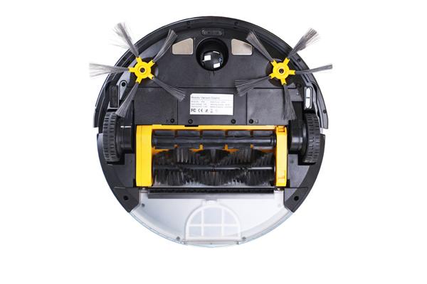 Вид с под низу робота-пылесоса Liectroux x5s