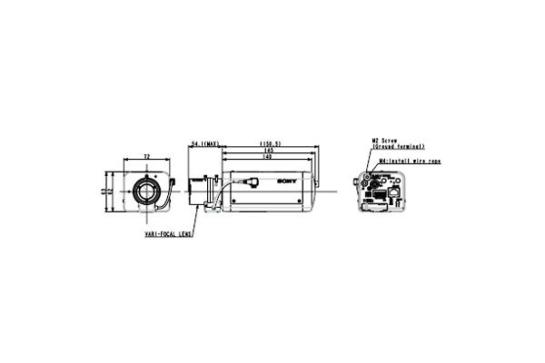 Схема устройства камеры видеонаблюдения Sony SNC-VB640