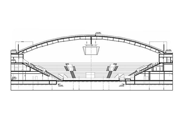 Схема пожарного аспирационного извещателя на спортивной арене