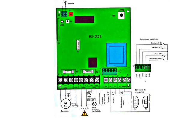 Схема подключения автоматического шлагбаума