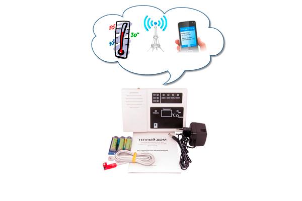 Схема работы GSM-термометра