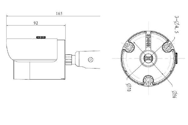 Чертеж камеры видеонаблюдения Nobelic NBLC-3130F-WSD
