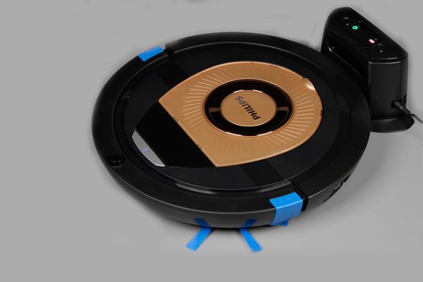 Процесс зарядки робота-пылесоса Philips SmartPro Compact FC8776/01