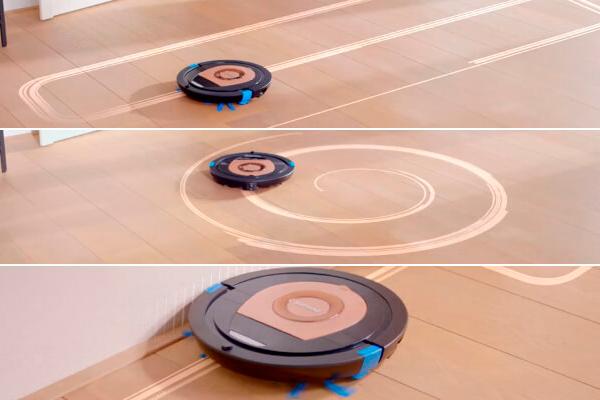 Возможные траектории движения роботизированного пылесоса Philips SmartPro Compact FC8776/01
