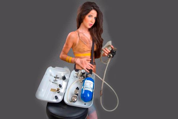 Использование аппарата горноспасатель ГС-10