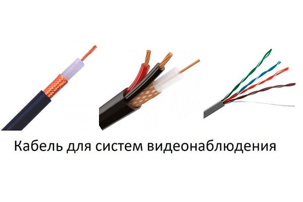 Виды кабелей для видеонаблюдения