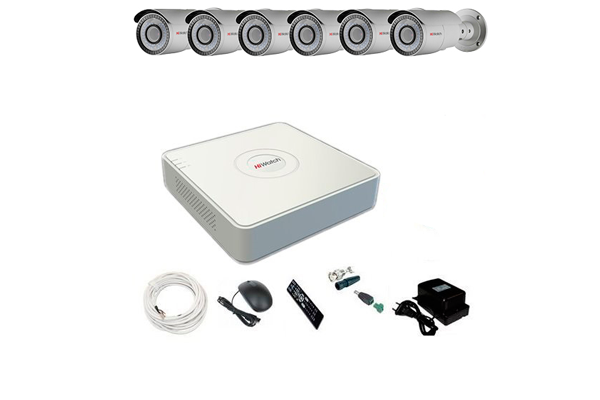 Комплект видеонаблюдения на 6 камер HiWatch