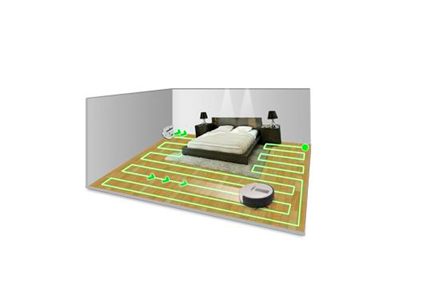 Траектория движения робота-пылесоса в процессе уборки