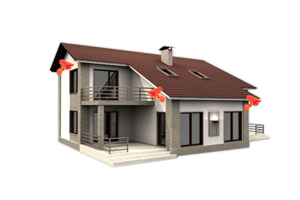 Камеры видеонаблюдения с записью на флэш и SD-карту в частном доме