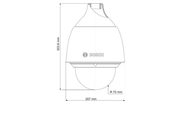 Компактная IP-rкамера видеонаблюдения Bosch AutoDome IP 5000 HD