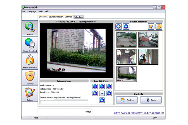 Видеонаблюдение с помощью Web-камеры