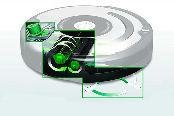 Схема работы робота-пылесоса iRobot Roomba 664
