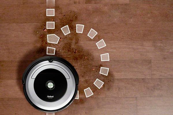 Траектория движения робота-пылесоса iRobot Roomba 694