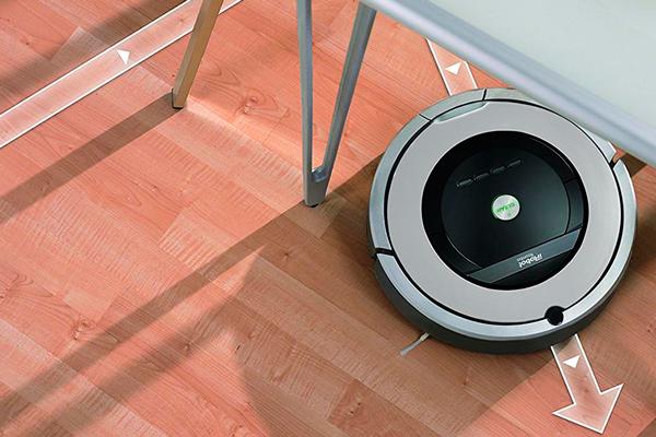 Траектория движения роботизированного пылесоса iRobot Roomba 864