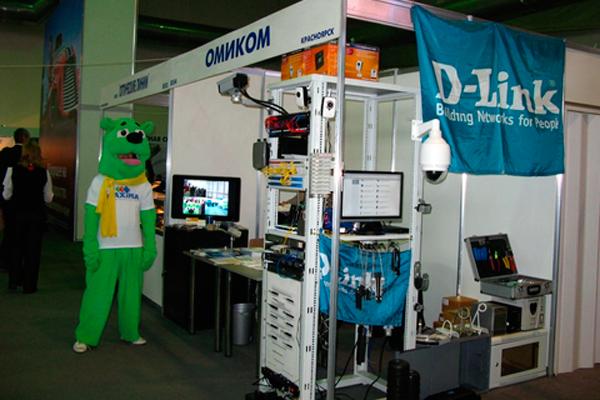 Стенд с выпускаемой продукцией компании D-Link