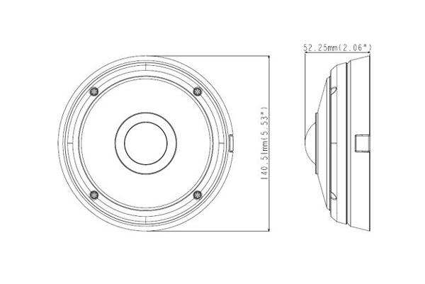 Чертеж IP-камеры видеонаблюдения Geovision GV-EFER3700-W